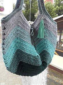 Kabelky - Summer Bag ...OMBRÉ mentolová - 12183477_