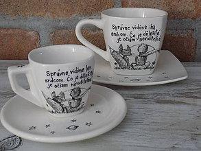 Nádoby - Sada espresso a ristretto šálky - 12184589_