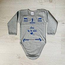 Detské oblečenie - Oci ty to dáš - detské body II. - 12182941_