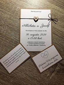 """Papiernictvo - Svadobné oznámenia """"srdiečko"""" hnedá verzia + zdarma nálepky na svadobné výslužky - 12184575_"""