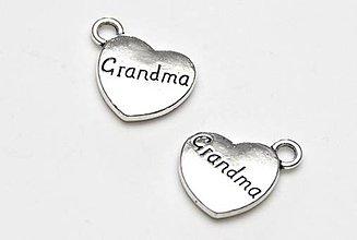 Komponenty - Prívesok srdiečko GrandMA - 12182208_