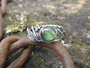Prstene - Strieborny prsteň Ag925 Labradorit - 12184360_