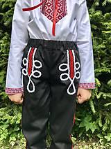 Detské oblečenie - Chlapčenské folklórne nohavice čierne - 12184791_
