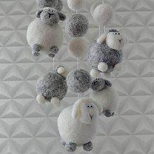Detské doplnky - Kolotoč s ovečkami do detskej izby - 12183638_