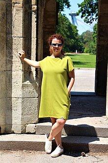Šaty - ŠATY SUMMER moss green - 12184236_
