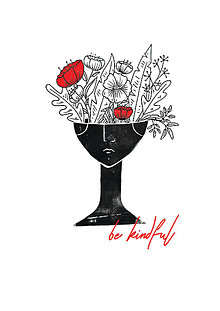 Grafika - Be Kindful risograf print - 12183409_