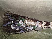 Dekorácie - Dekoračná metla z brezového prútia s vôňou levandule... - 12185249_