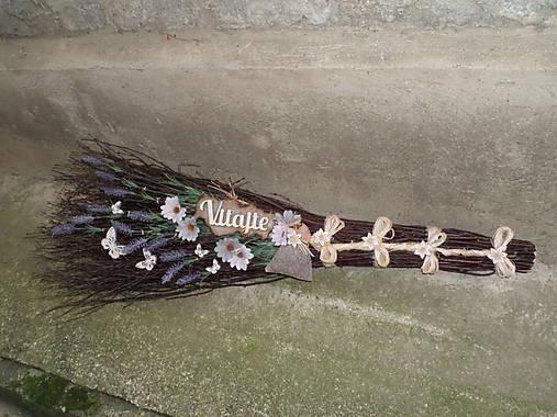 Dekoračná metla z brezového prútia s vôňou levandule...