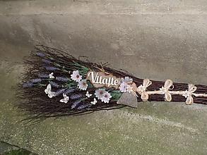 Dekorácie - Dekoračná metla z brezového prútia s vôňou levandule... - 12185247_