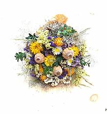 Dekorácie - Prírodná kytica - 12186130_