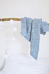 - Vlnená pletená deka - holubia (Vlnená pletená deka - holubia) - 12186404_