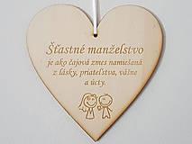 Tabuľky - Drevená tabuľka na dvere Šťastné manželstvo - 12185811_