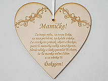 Tabuľky - Drevená tabuľka na dvere MAMIČKE - 12185839_
