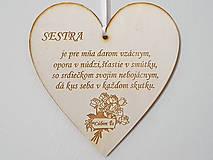 Tabuľky - Drevená tabuľka na dvere Sestra - 12185851_