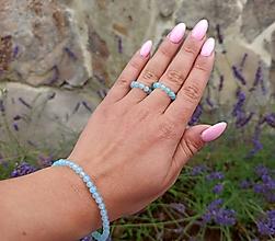 Sady šperkov - Sada Achát náramok a prstienky - 12185480_