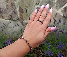 Sady šperkov - Sada Achát náramok a prstienky - 12185560_