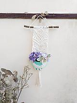 Dekorácie - Makramé držiak na kvetináč - 12186595_