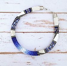 Náhrdelníky - Háčkovaný náhrdelník - 12185712_