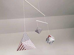 Hračky - závesné tvary,montessori závesné tvary,montessori mobile - 12185361_
