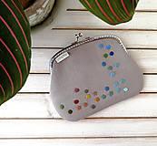 Peňaženky - Peňaženka XL Bodky na svetlošedej (s kapsičkou) - 12185114_