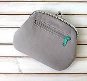 Peňaženky - Peňaženka XL Bodky na svetlošedej (s kapsičkou) - 12185116_
