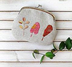 Peňaženky - Peňaženka XL Lístky jesenné (s kapsičkou) - 12185120_