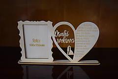Darčeky pre svadobčanov - Poďakovanie Rodičom s fotografiou 2 - 12185600_