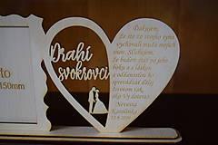Darčeky pre svadobčanov - Poďakovanie Rodičom s fotografiou 2 - 12185602_
