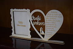 Darčeky pre svadobčanov - Poďakovanie Rodičom s fotografiou 2 - 12185604_