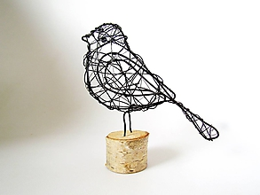 Socha - Vtáčik minimalistický I.  *13,5 cm - 12185415_