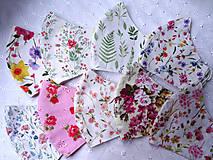 Rúška - Bavlnené rúška... dámske (Letné vetvičky) - 12188138_
