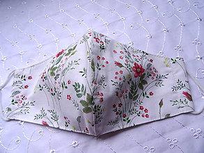 Rúška - Bavlnené rúška... dámske (Lúčne kvety) - 12188150_