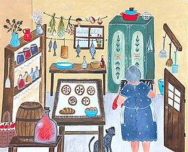 Obrazy - Babička v komore / reprodukcia - 12187398_