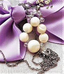 Náhrdelníky - Prírodná perleť prívesky - 12188124_