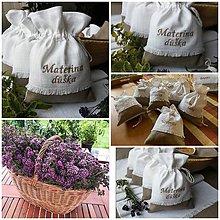 Úžitkový textil - Ľanové vrecúška na bylinky, huby, sušené ovocie..... - 12188840_