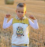 Detské oblečenie - Vesta - sova - 12189643_