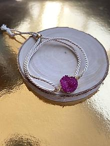 Náramky - Náramek s růžovou drúzou - 12187820_