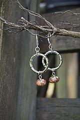 Náušnice - Náušnice - Marble kruhy (Oranžová) - 12189327_