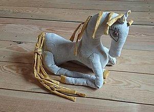 """Hračky - ľanový koník """"Slncová"""" - 12188655_"""