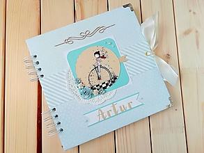 Papiernictvo - Fotoalbum pre chlapčeka s menom - 12188127_