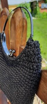Kabelky - Malá večerná kabelka čierna - 12190882_
