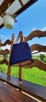 Veľké tašky - Modrá s dnom - 12191112_