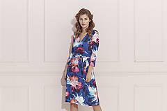 Šaty - Kvetované zavinovacie šaty - 12191333_