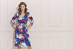 Šaty - Kvetované zavinovacie šaty - 12191338_