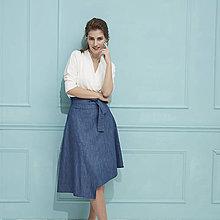 Sukne - Denimová sukňa - 12191607_