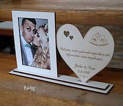 Darčeky pre svadobčanov - Poďakovanie rodičom s fotorámikom 35 (Poďakovanie (zmena dátumu a mena)) - 12192252_