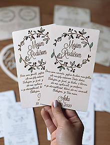 Darčeky pre svadobčanov - Poďakovanie rodičom 41 venček maľovaný zelenobordový - 12192780_
