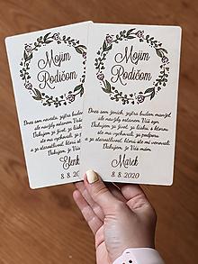 Darčeky pre svadobčanov - Poďakovanie rodičom 38 venček maľovaný ružový - 12192791_