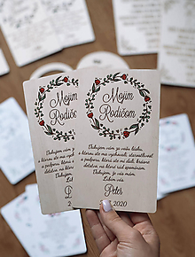 Darčeky pre svadobčanov - Poďakovanie rodičom 36 venček maľovaný červený - 12192797_