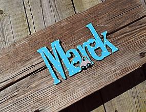 Detské doplnky - Menovka pre Mareka - 12190313_
